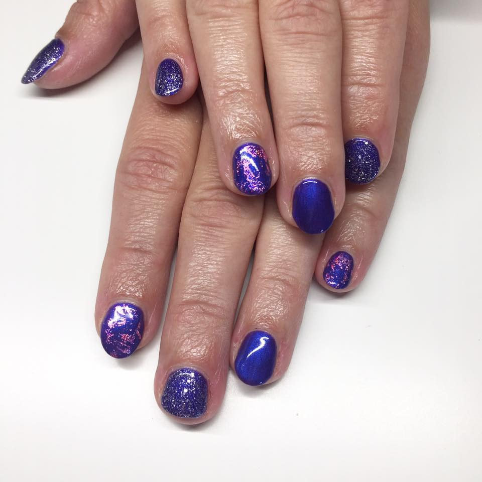 <span>Dekoration, Shellac</span>Purple Purple med glimmer og folie